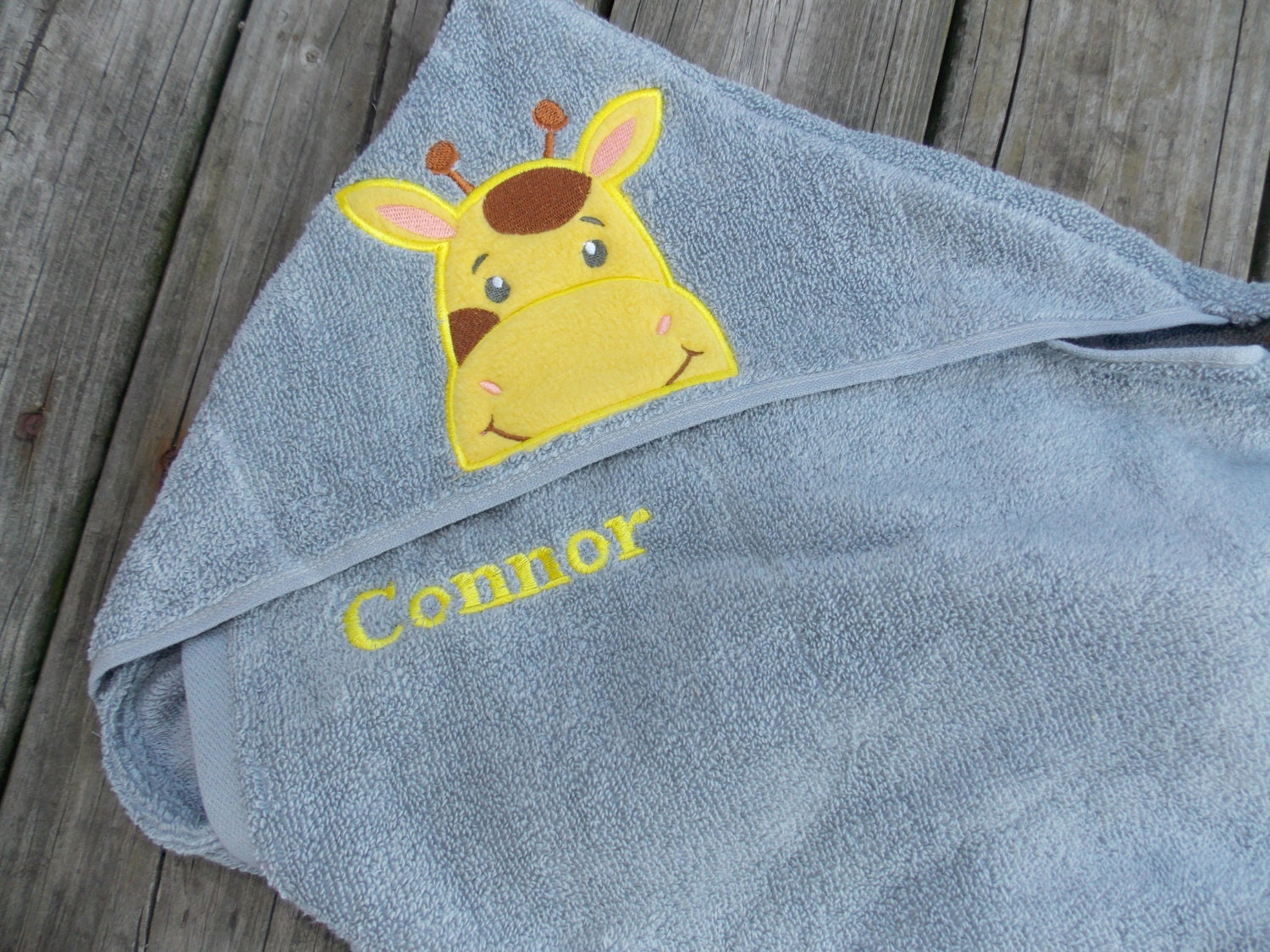 Infant Hooded Towel Personalized Hooded Towel Baby Shower Gift