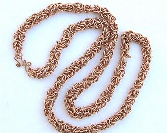 Copper Byzantine Link Necklace