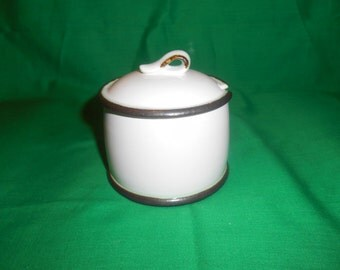 One (1), Sugar Bowl with Lid, from Wedgwood, in the Artic Pattern.