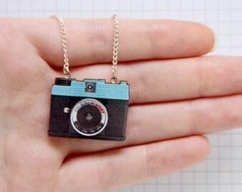 Diana Mini Camera Laser Cut Necklace