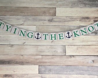 Tying the Knot Bridal Shower Decoration - Wedding banner - bachelorette