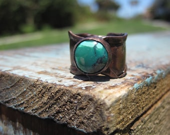 Turquosie and Copper Ring- Size 6