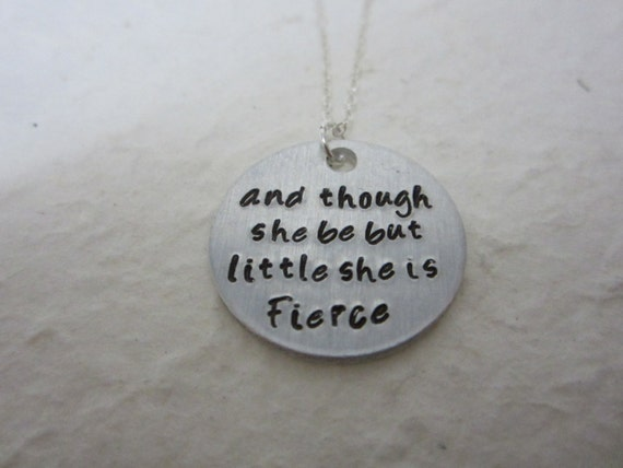 Shakespeare Quotes She May Be Small: And Though She Be But Little She Is Fierce Shakespeare Quote
