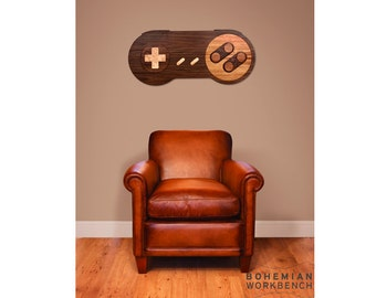 16-bit Retro Gaming Wall Art - Walnut