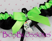 keepsake XBOX GAMER handmade wedding bridal prom keepsake garter with remote control - size xs s m l xl xxl