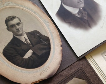 Vintage Cabinet Cards and Sepia Photos of Dapper Gentleman