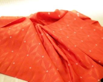 SALE,30%off  Vintage Japanese  Synthetic Fabric,orange ,1yard