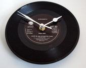 "AEROSMITH Clock ""Love In An Elevator"" Vinyl Record Clock 7"" single Retro recycled cool Rock Metal unique gift"