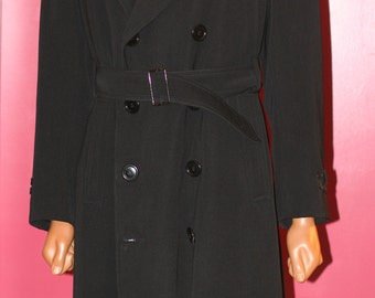 vintage men's full length double breasted wool coat size 42