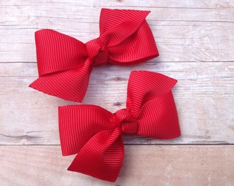 You pick color hair bows- Adorable pigtail bows, toddler bows, pigtail bows, baby bows, small bows, girls hair bows, girls bows, hair bows