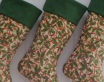 Christmas Stocking / Holly  / Item 86
