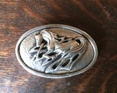 Dancing Horse Oval Belt Buckle in High Relief Silver Pewter