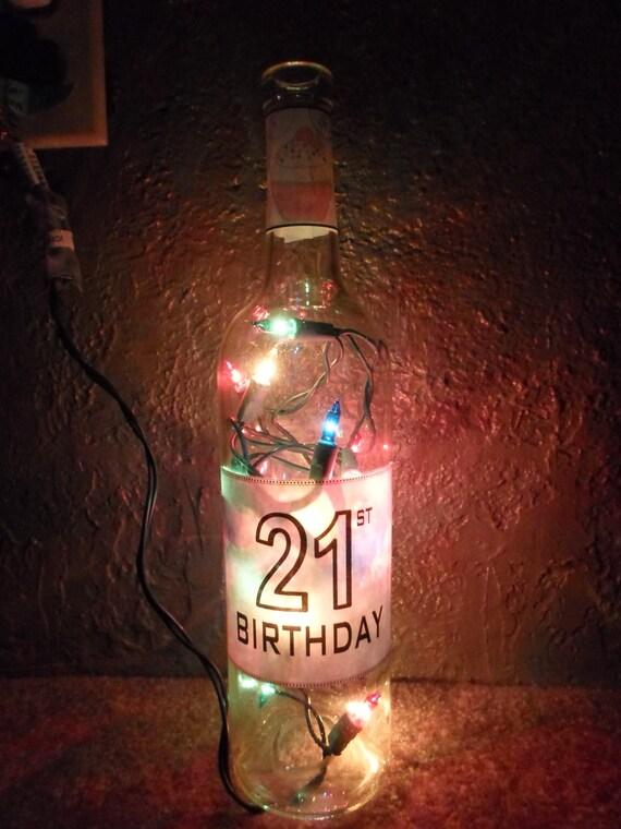 Lighted Uv Cake Inspired Bottle Decorative Lamp Great For