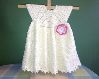 Yellow Baby Dress Crochet Pattern - Easy