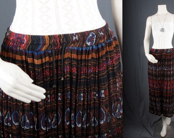 Broomstick skirt Maxi skirt gypsy bohemian black burgundy blue Indian women S M small medium