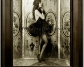 Follies Flapper Art Print 8 x 10 - Art Deco - Jazz Age - 1920's - Glamorous - Pin Up - Ballerina - Tutu