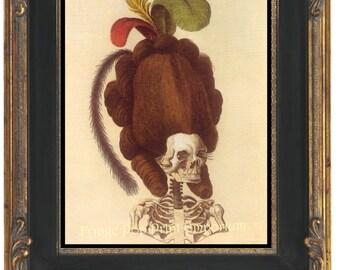 Marie Antoinette Skull Art Print 8 x 10 Victorian -  Goth French Queen - Gothic
