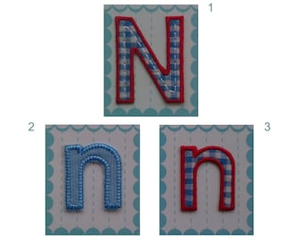fabric letters iron on applique patch letter n 550 cm 216 inches n 4 cm 157 inches