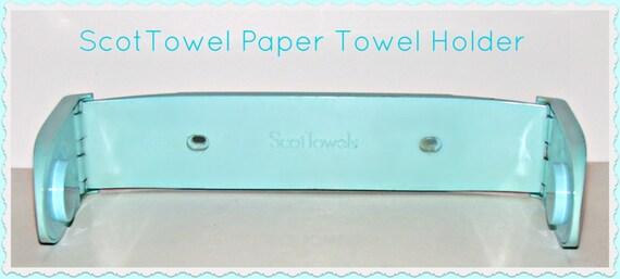 sale vintage aqua turquoise plastic paper towel holder. Black Bedroom Furniture Sets. Home Design Ideas