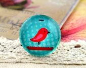 10pcs (10mm\12mm\14mm\15mm) 4pcs (16mm\18m\20mm\25mm) 2pcs (30mm) Handmade Photo Glass Cabs Cabochons-Lovely Bird