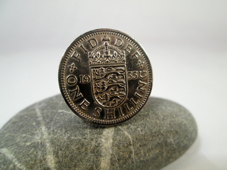 Men S 1955 Coin Cufflinks English Shilling Cufflinks