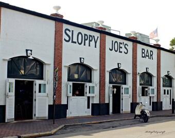 Key West Bar Photo / Sloppy Joe's Bar Print /  Key West Florida / Key West Bar Print / Free US Shipping