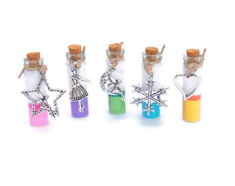 Fairy Jars, Tooth Fairy, Ballerina, Snowflake, Frozen Magic, Winter Heart, Blue, Pink, Green, Yellow, Purple, Glitter Jar