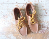NOS 80s boat shoes/ vintage/ 7 wide/ womens