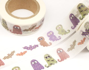 Colorful Ghost and Bat Washi Tape - 972