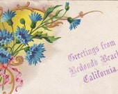 Vintage Antique Postcard - CALIFORNIA - REDONDO BEACH - Used