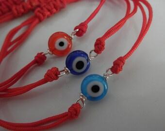 Evil eye adjustable bracelet