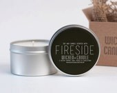Fireside scented soy wax candle Wicked Candle