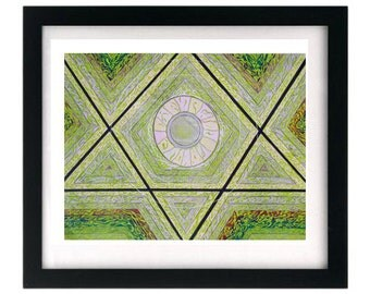 11 x 8.5 Green Art Print - Limited Edition, Signed Numbered - FREE shipping