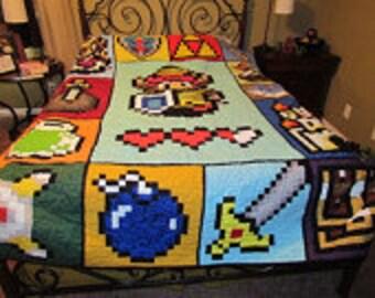 Zelda Quilt Pattern - 72 x 90 - Pattern only