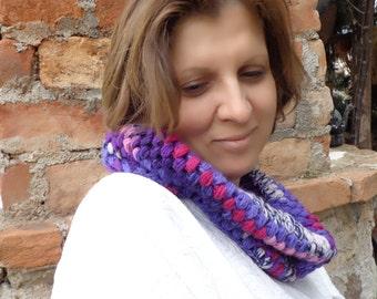 Multicolor Crochet Neckwarmer,Cowl.