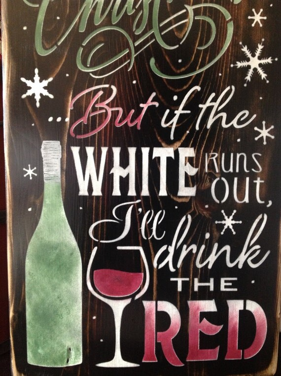 I M Dreaming Of A White Christmas Primitive Wood Sign
