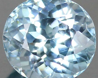 2.80 Ct.Natural Faceted Loose Gemstone Zircon Round Blue