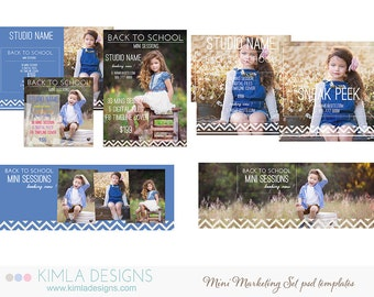 Back to School Marketing Boards PSD Templates for Photographers