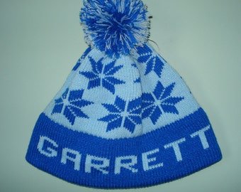 Personalized and machine washable child's knit hat