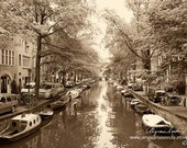 Amsterdam Canal photography, Amsterdam wall art, Amsterdam travel photos, houseboats, Netherlands, Architecture, Wall decor, gift, under 50