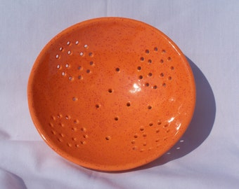 Orange Speckled Berry Bowl