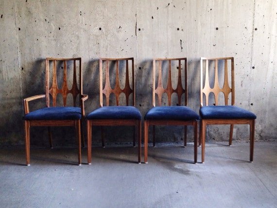 Vintage 60s Broyhill Brasilia Dining Chairs Set Of Four Mid