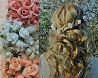 Choose Your Color Flower Hair Pins/Made To Order Hair Flowers/Bridal Hair Accessory/Floral Crown/Floral Hair Accessory/Floral Halo/Boho Chic