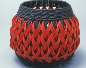 Penland Pottery Basket in red and black