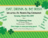 """Printable St. Patrick's Day Party Invitation - 4x6"""" or 5x7"""" - St. Patty's
