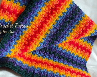 Edith's Rainbow Baby Blanket - Instant Download PDF Crochet Pattern
