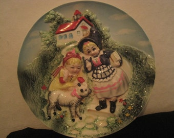 Vintage Mary Had a Little Lamb Decorative Plate