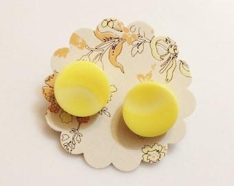 Bright Yellow Stud Earrings