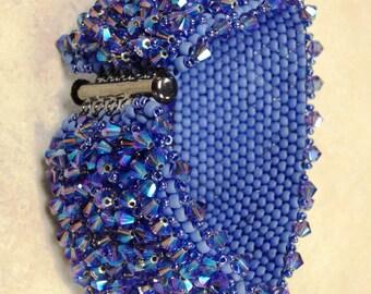 Periwinkle-Aqua Swarovski Bracelet