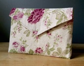 """new 15 inch MacBook PRO (2016) case with pocket, macbook sleeve, floral pattern, roses, eco friendly - """"envelope rose garden"""""""